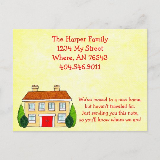 Southern Home Moving New Address Announcement Zazzle Com