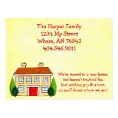 Southern Home Moving New Address Announcement Postcard at Zazzle