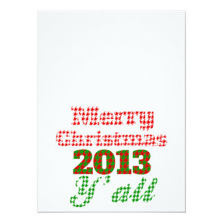 Southern Houndstooth Christmas 2013 5.5x7.5 Paper Invitation Card