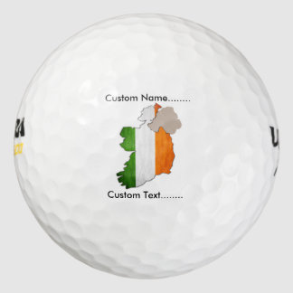 Southern Irish Flag and Map on a Golf Ball. Golf Balls