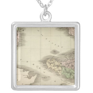 Southern Italy 2 Square Pendant Necklace