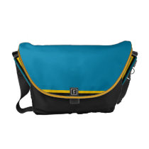 Southern Jungle Teal and Gold Messenger Bag