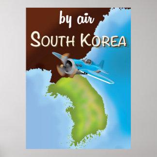 southern korean travel poster