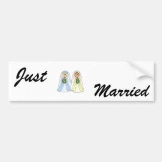 Southern Lesbian Wedding Bumper Sticker