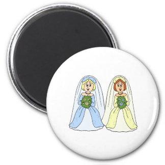 Southern Lesbian Wedding Fridge Magnet
