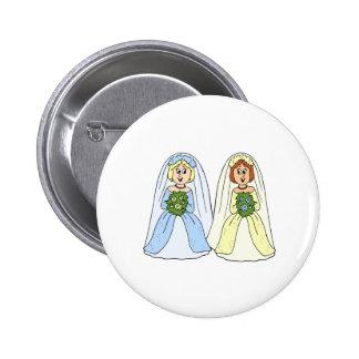 Southern Lesbian Wedding Pinback Button