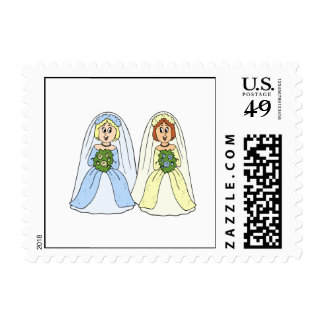 Southern Lesbian Wedding Stamp