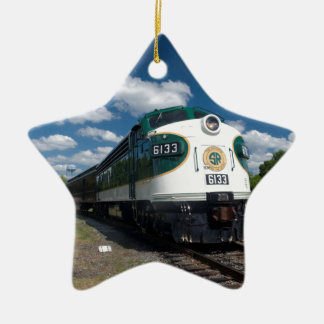 southern loco at station ceramic ornament
