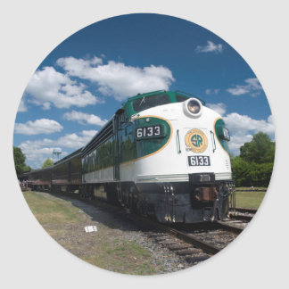southern loco at station classic round sticker