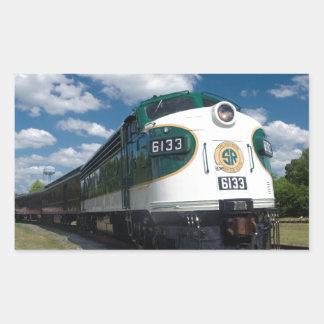 southern loco at station rectangular sticker