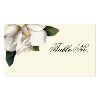 Southern Magnolia Botanical Wedding Escort Cards Business Card