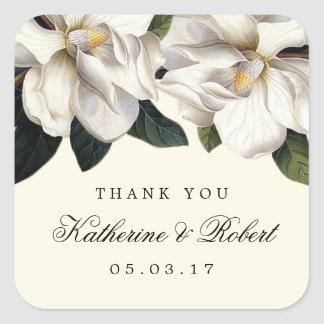 Southern Magnolia Botanical Wedding Favor Stickers