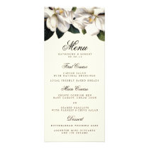 Southern Magnolia Botanical Wedding Menu Card