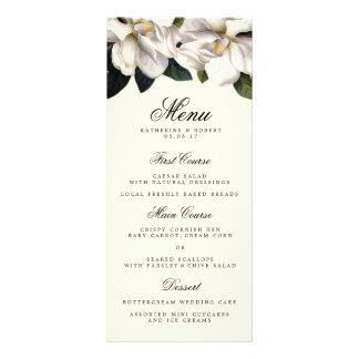 Southern Magnolia Botanical Wedding Menu Card