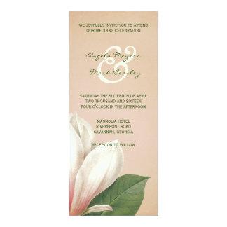 Southern Magnolia Flower Wedding   Antique Blush Card