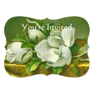 Southern Magnolia Flower Wedding Card