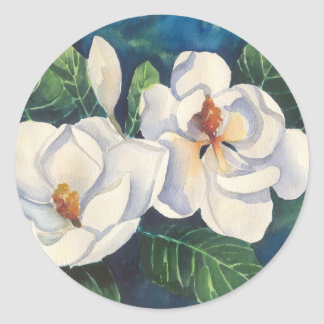 Southern Magnolias Classic Round Sticker