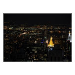 Southern Manhattan's East Side at Night 001 Poster