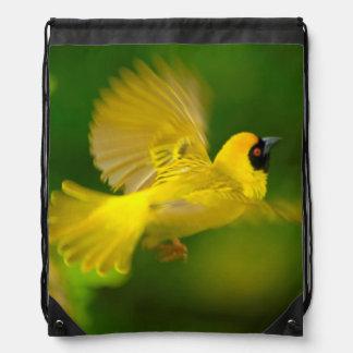 Southern Masked Weaver (Ploceus Velatus) Drawstring Backpack