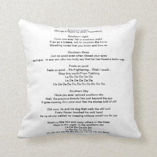 Southern Night Throw Pillow