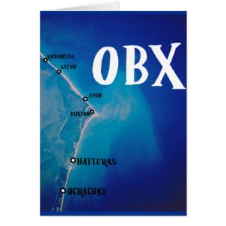 Southern OBX map Greeting Card
