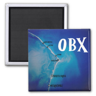 Southern OBX map 2 Inch Square Magnet