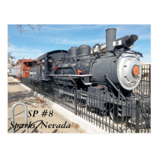 Southern Pacific #8 Sparks Nevada Postcard