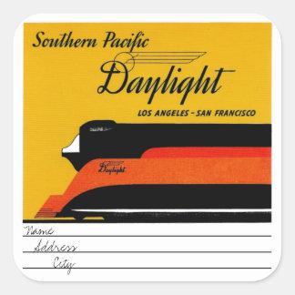 Southern Pacific Daylight Pegatina Cuadrada
