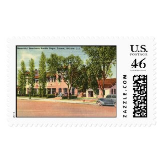 Southern Pacific Depot, Tucson, AZ Vintage stamp
