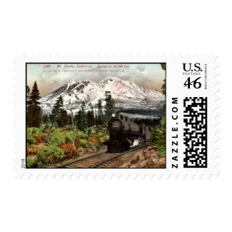 Southern Pacific Mt. Shasta 1912 Vintage stamp