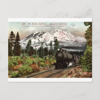 Southern Pacific Mt. Shasta 1912 Vintage postcard