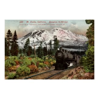 Southern Pacific Mt. Shasta 1912 Vintage print