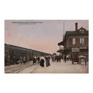 Southern Pacific Railroad Station Print