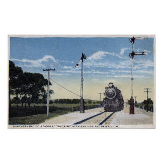 Southern Pacific Railroad to Pajaro Poster