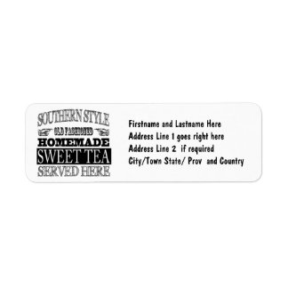 Southern Pride Sweet Tea Sign Label