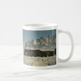 Southern Railway No. 777 crosses Blea Moor in wint Coffee Mug
