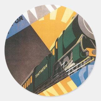 Southern Railway Scotland Vintage Round Sticker