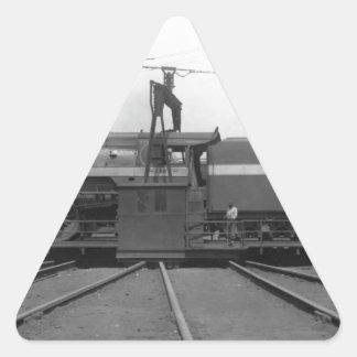Southern Railway Steam Locomotive on turntable Triangle Sticker