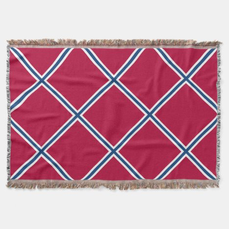 Southern Red and Blue Patterned Throw Blanket