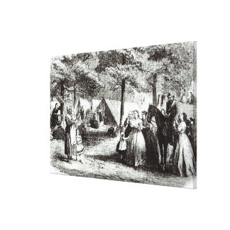 Southern refugees encamping in the woods canvas print