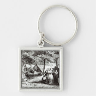 Southern refugees encamping in the woods keychain
