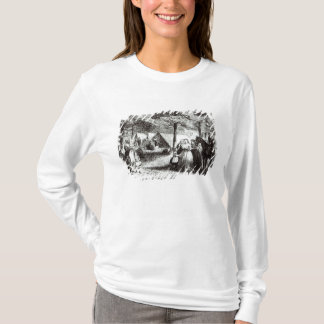 Southern refugees encamping in the woods T-Shirt