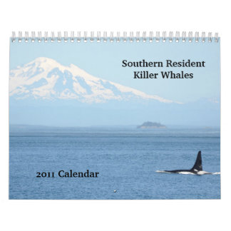 Southern Resident Killer Whales Wall Calendar