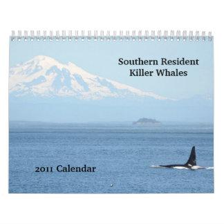 Southern Resident Killer Whales Wall Calendar