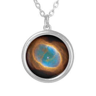 Southern Ring Nebula NGC 3132 NASA Space Photo Silver Plated Necklace