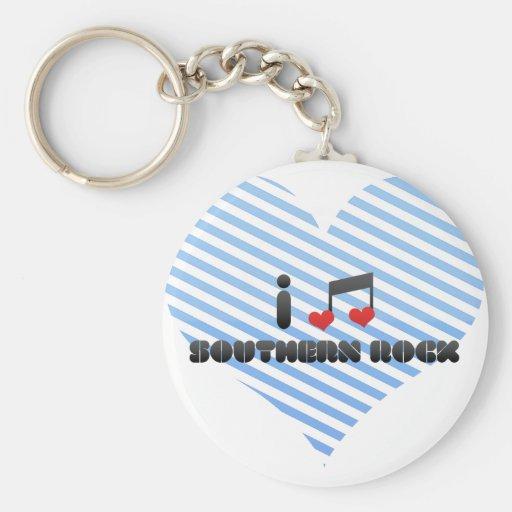 Southern Rock Basic Round Button Keychain