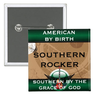 Southern Rocker Square Magnet 2 Inch Square Button