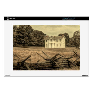 "Southern Rural Landscape Rustic colonial Farmhouse 15"" Laptop Skin"