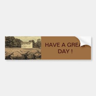 Southern Rural Landscape Rustic colonial Farmhouse Bumper Sticker