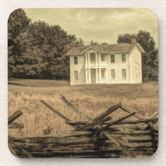 Southern Rural Landscape Rustic colonial Farmhouse Coaster
